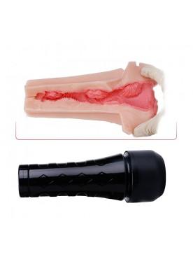 3D Realistic Textured Pussy Vagina Stroker Ultra Soft Lifelike Sex Toy For Men Masturbation