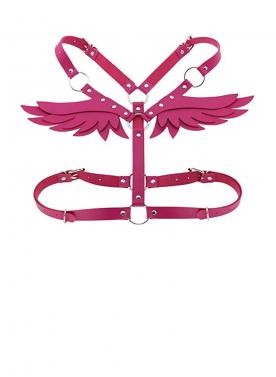 Womens Leather Sexy Fetish Angel Wings Adjustable Body Belt Bondage Waist Belt Club wear