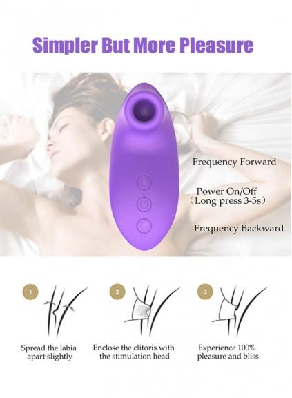 Blowjob Tongue Vibrating Nipple Sucking Clitoris Vagina Stimulator Sex Toy for Women