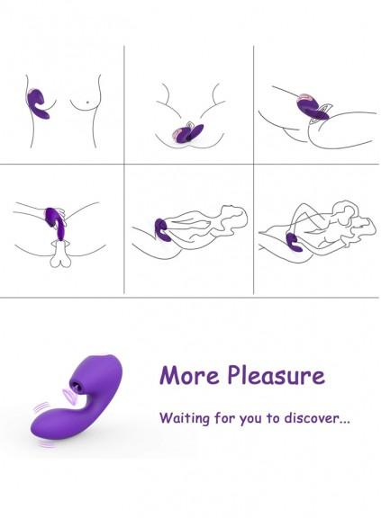 Clitoris Stimulator Real Dildo Vibrator 7 modes G Spot Magic Wand Female Vagina Anal Bead Vibration Adult Sex Toys Women Lesbian